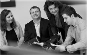 La famille Mignon : Manon, Bruno, Laurence et Guillaume Mignon ( de gauche à droite)